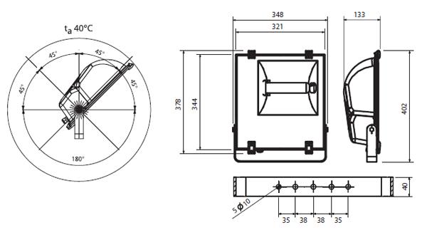 Прожектор Sylveo 1 HSI-MP 100W